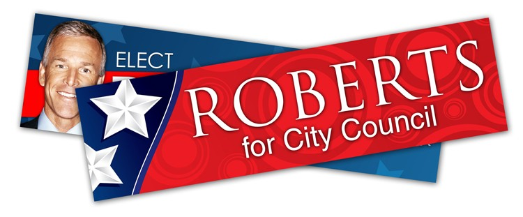 Political campaign bumper sticker uv coated vinyl 11x3