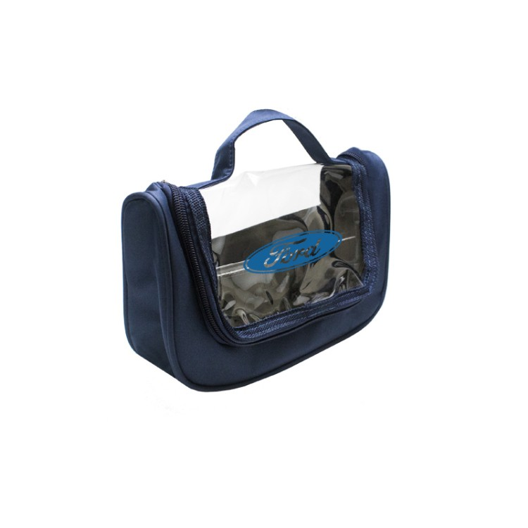 CLEAR VIEW HANGING TOILETRY BAG