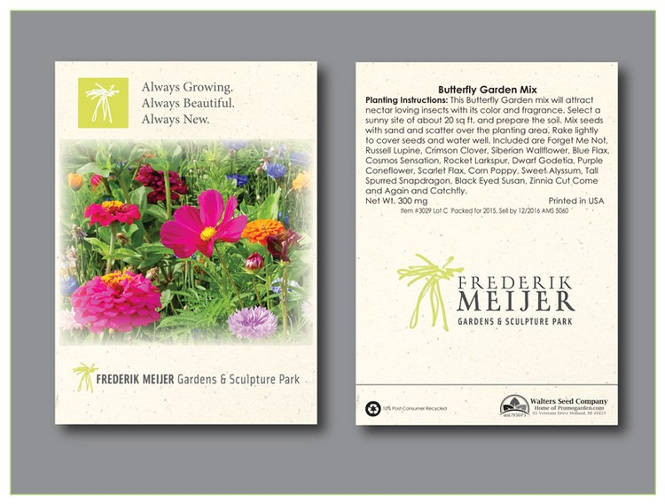 Butterfly Mix Seed Packet - Imprinted Seed Packet