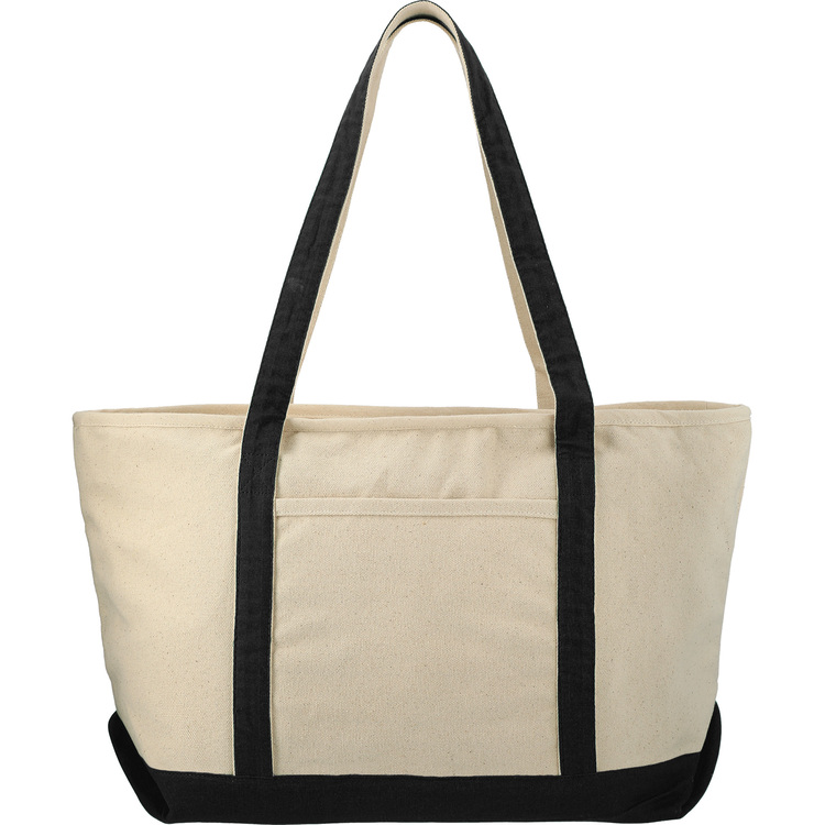 Classic Cotton Zippered Boat Tote