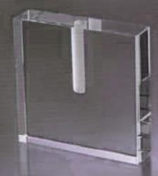 Transparent Love Bud Vase Optic Crystal.