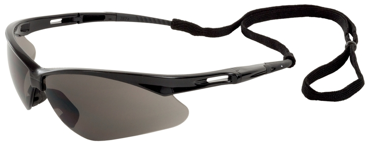 Octane Safety Glasses (Black Frame/Gray Anti-Fog Lens)