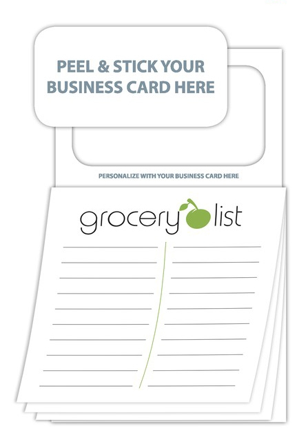 Magnetic Sticky Pad - Stock Grocery List (20 Sheet)