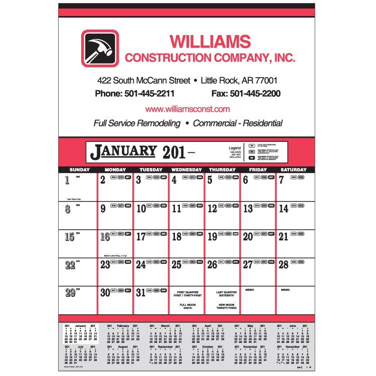 Contractor S 12 Sheet Calendar 84 E Calendars
