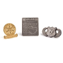 2 Die Struck Lapel Pin