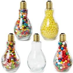 Jumbo Light Bulb Shape Glass Jar Lemon Heads
