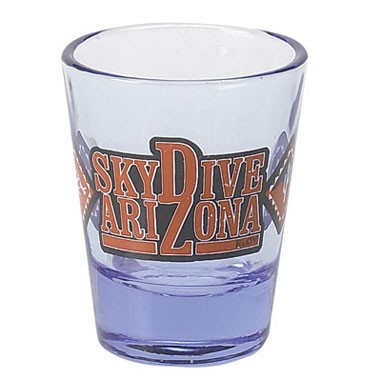 2oz Blue Tint Clear Shot Glass