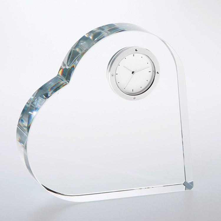 Heartstring Clock Award. Optic Crystal.