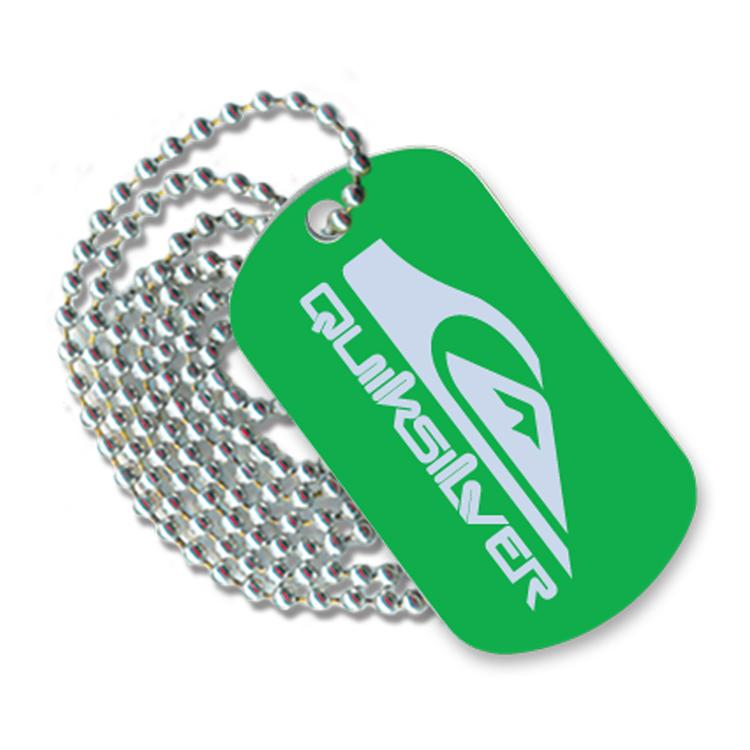 Anodized Aluminum Dog Tag, Laser Etched Logo Front and a 30 Neck Chain, Polybagged