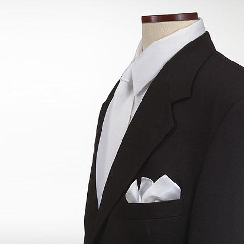 White Polyester Pocket Square