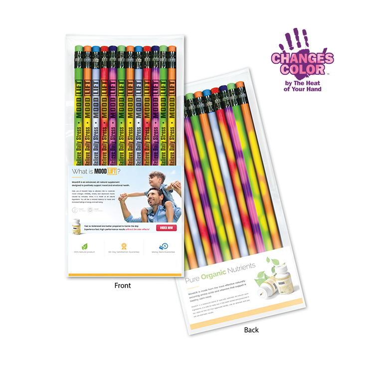 Create-A-Pack Pencil Set of 12 - Mood Pencils w/ Colored Eraser
