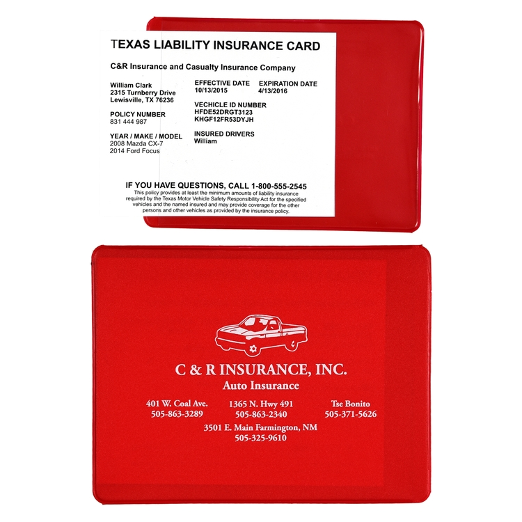 Proof of Insurance Card Holder