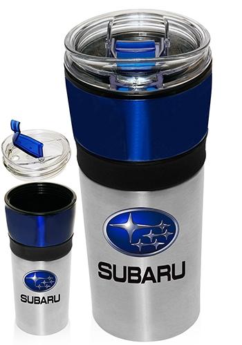 16 oz stainless steel travel mug w plastic interior - Travel mug stainless steel interior ...