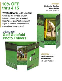 Golf Photo Folder sale from Warwick