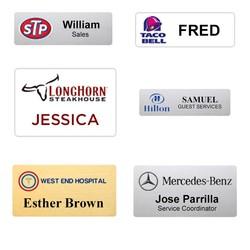 Metal Digitally Printed Name Badge - Fast - USA Made Tags - Free Shipping
