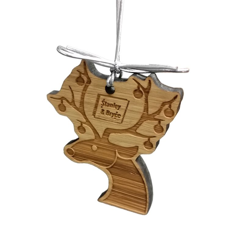 Laser Etched Bamboo Ornaments (4 Square Inch)