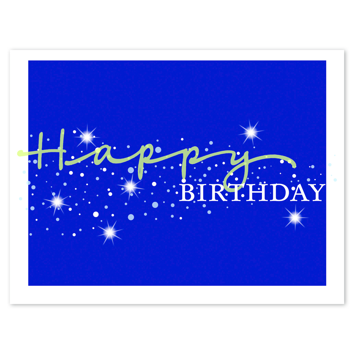 Stellar Birthday Card W Unlined White FastickR Envelope