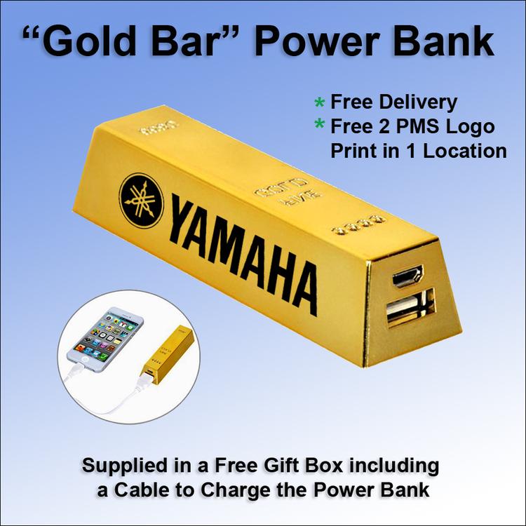 Gold Bar Power Bank 1800 mAh