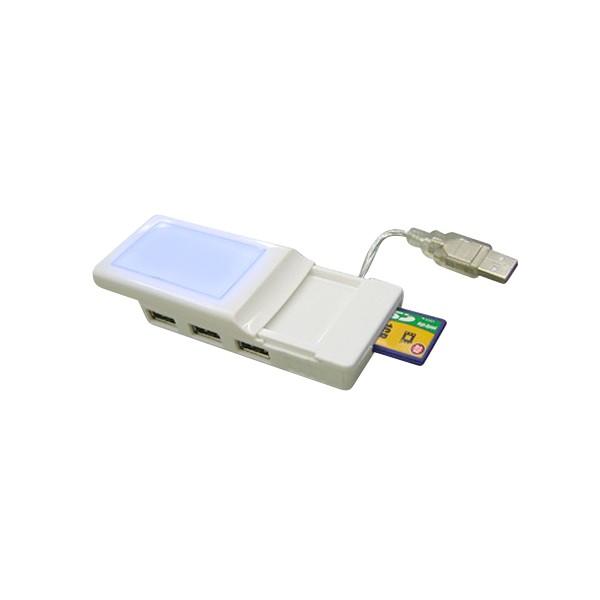 3080HCR - 4 Port Hub w/ Built-in Card Reader