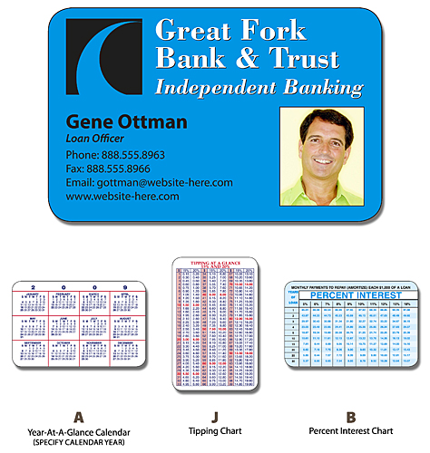 Financial Services Laminated Wallet Card - 3.5x2.25 (2-Sided) - 14 pt.