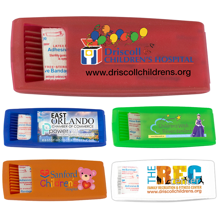 6 Piece Bandage Dispenser (PhotoImage 4 Color)