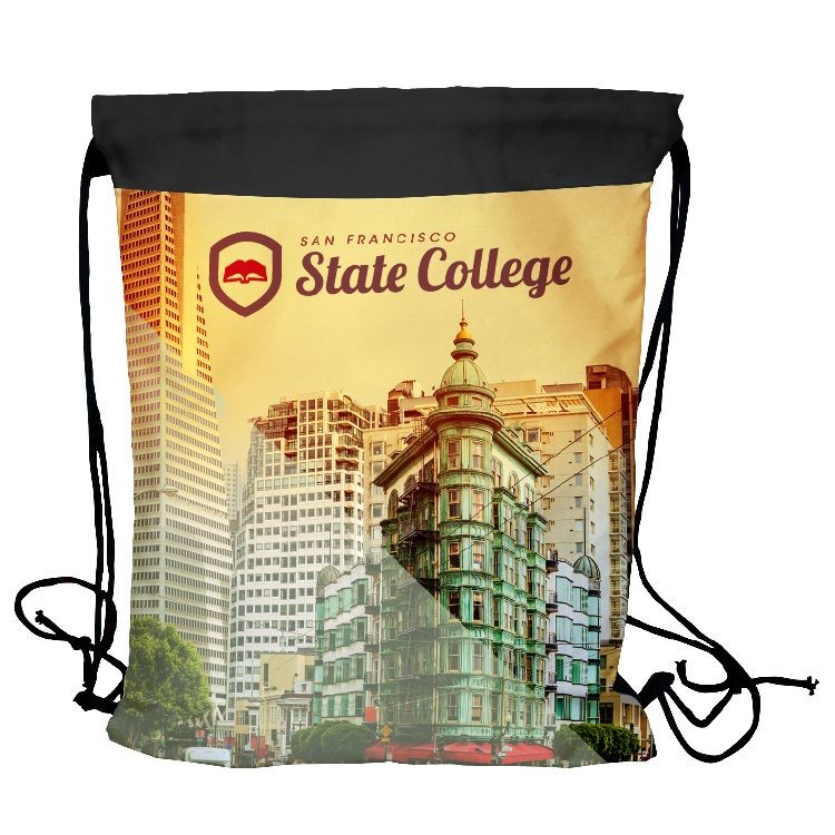 Drawstring Backpack- Full color on Front Side