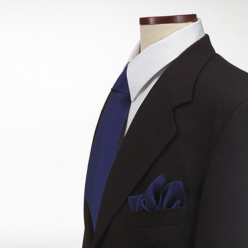 Navy Blue Polyester Pocket Square