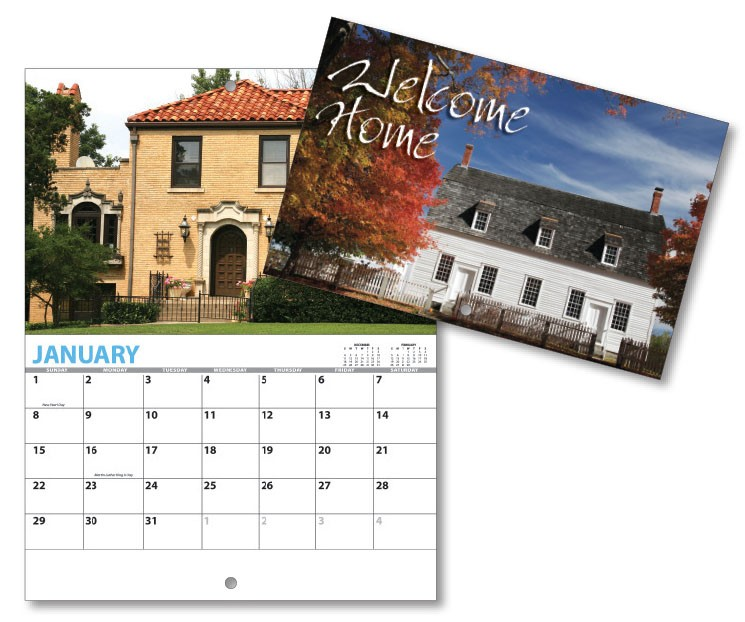 13 Month Mini Custom Photo Appointment Wall Calendar - WELCOME HOME