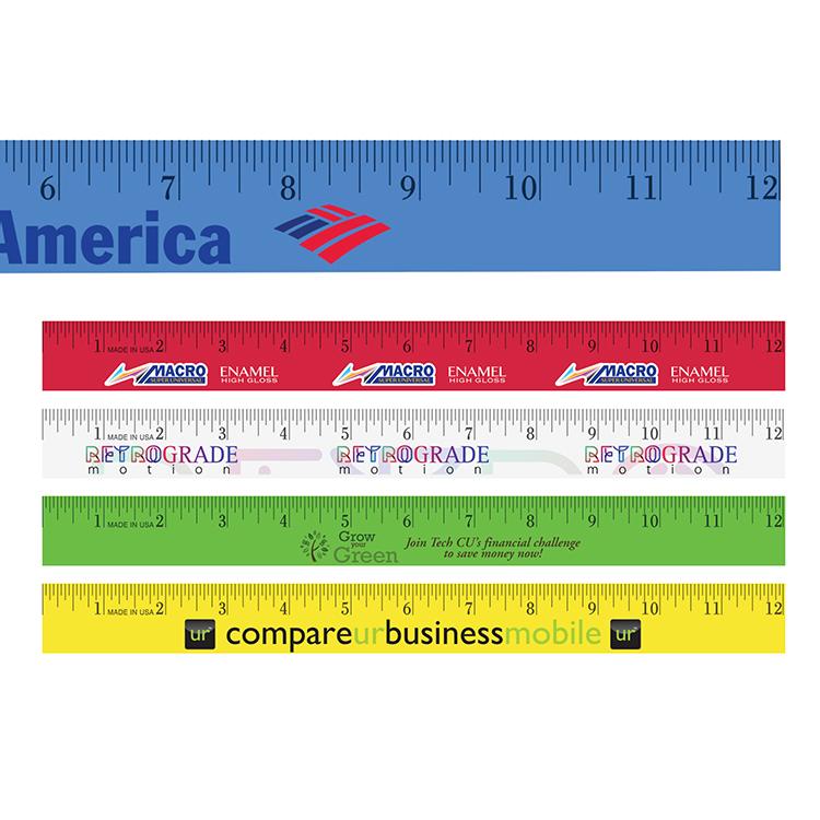 12 Enamel Wood Ruler, Full Color Digital
