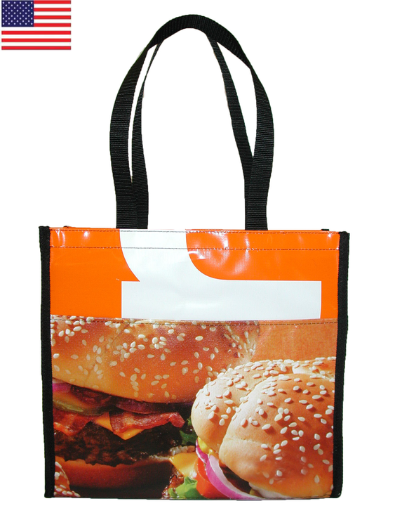 Billboard Recycled Banner Tote Bag 14x4x14