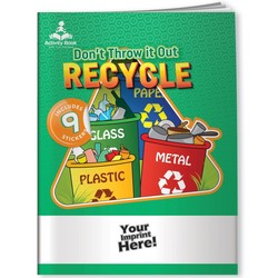 Activity Book w/ Fun Stickers - Don't Throw it Out, Recycle