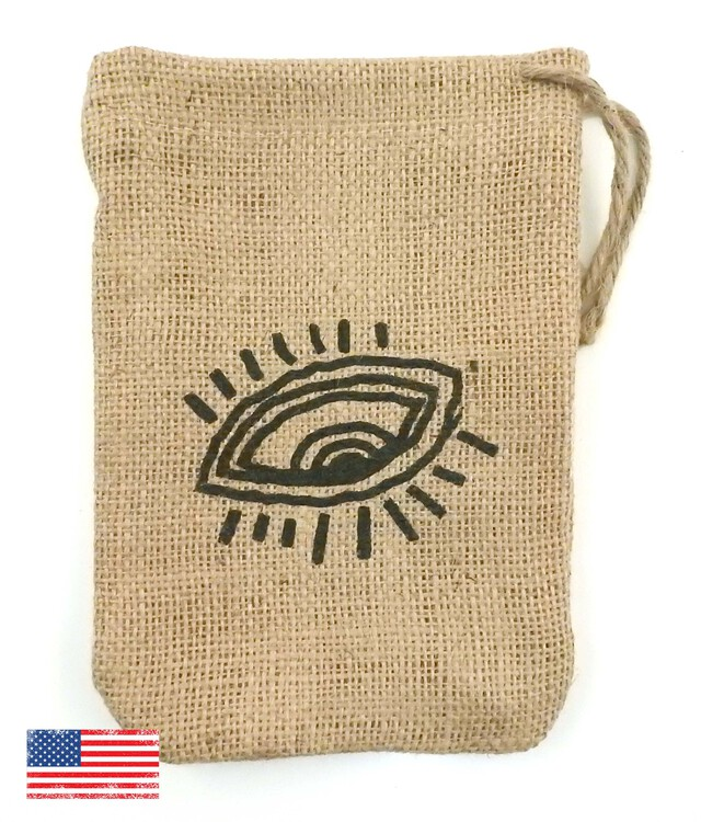 Sweet Treats Jute/Burlap Drawstring Bag 5X7