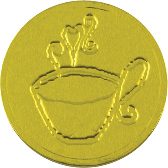 Coffee Cup Chocolate Coin