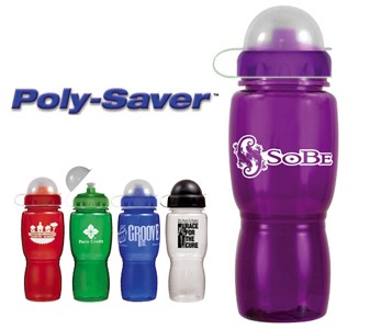 18 oz. Poly-Saver Mate Bottle with Push \'n Pull Cap & Dome Lid