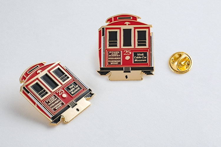 Custom 1.25 Enamel Souvenir Lapel Pins