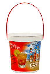 32 oz. Plastic Bucket & Handle w/Full Color In Mold Labeling