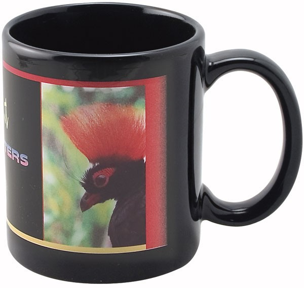 Mug 11oz.Full Color Black Stoneware Executive Mug