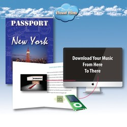 Cloud Nine New York Music Download Greeting Card