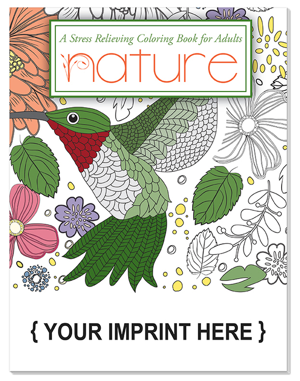 ADULT COLORING BOOK - Nature Stress Relieving Coloring Book for Adults