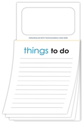Magnetic Scratch Pad / Notepad (MBC) - Stock Things To Do (50 Sheet)