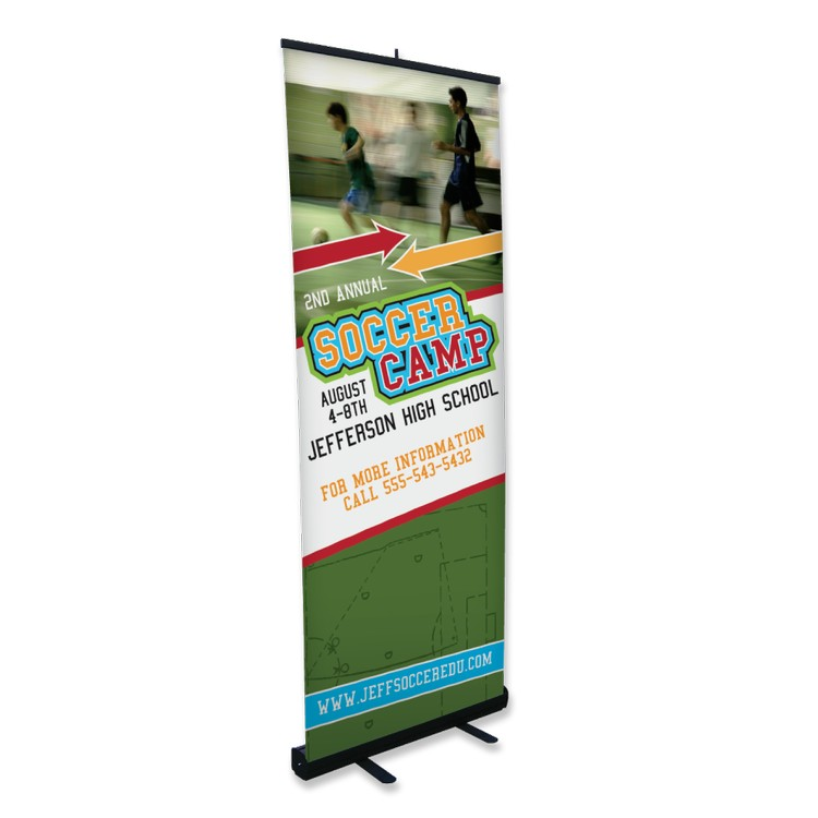 White No Curl Banner with a Protective Laminate 32 x 83 Digital Print