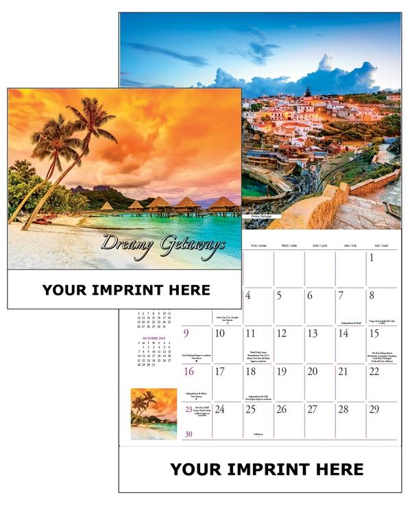 The Global Econoline Calendar/ Dreamy Getaways