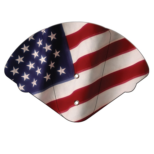 American Flag 4 Part Fan - Full Color