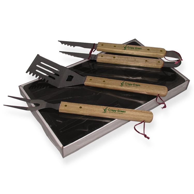 Premium Wood Handle BBQ Set - D5730 D-5730