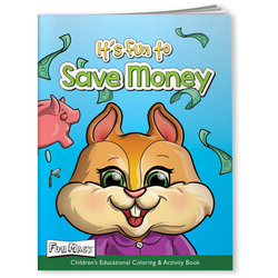 Financial, It's Fun to Save Money - Coloring Book with Mask