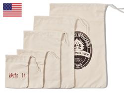 Heavy Weight Natural Cotton Drawstring Bag 6x8