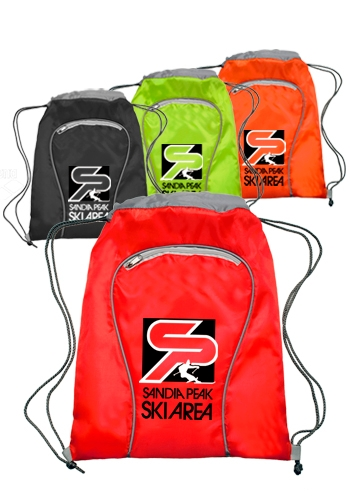 Polyester Drawstring Backpack - 14 W x 18 H