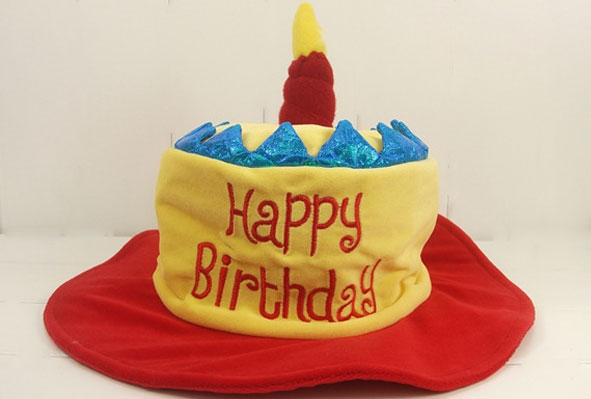 Party Supplies Birthday Cake Hat With Candle