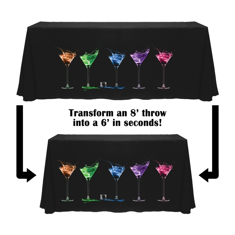 Digital Convertible Table Throw - 6ft/8ft