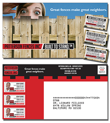 Laminated Postcard with 3 Perforated Coupons (10.5x5.5 Square Corners)
